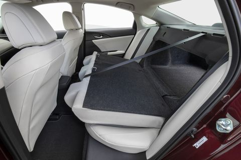 An important feature for my cross-country skiing mother, the rear seats do fold down in the 2019 Honda Insight.