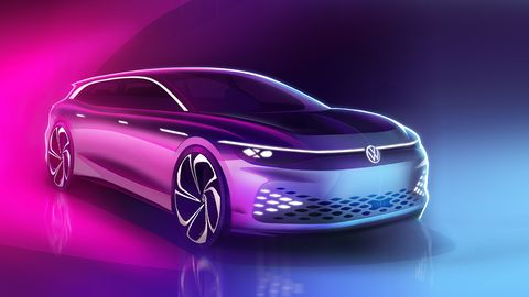 The wagon (crossover, according to VW) will be based on the group's MEB electric platform.