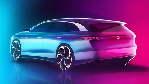 The concept has an EPA-rated range of 300 miles, according to VW.