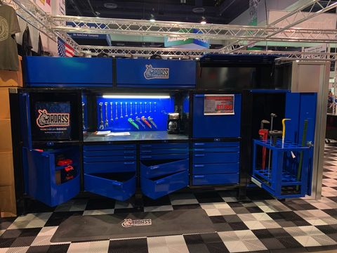 This BadAss tool setranks among the most straightforward displays at SEMA -- also the most common.