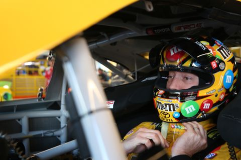 "<span id=""CT_Main_1_cache_lblCaption"">Kyle Busch, driver of the #18 M&amp;M's Toyota, sits in his car during practice for the Monster Energy NASCAR Cup Series Bluegreen Vacations 500 at ISM Raceway on November 08, 2019 in Avondale, Arizona. </span>"