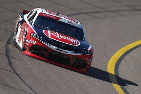 "<span id=""CT_Main_1_cache_lblCaption"">Christopher Bell, driver of the #20 Rheem Toyota, drives during practice for the NASCAR Xfinity Series Desert Diamond Casino West Valley 200 at ISM Raceway on November 08, 2019 in Avondale, Arizona. </span>"