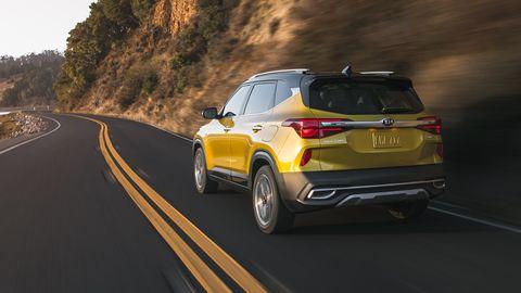 The 2021 Kia Seltos premiered at the Los Angeles Auto Show.
