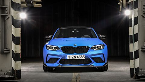 BMW cranked the power up for the 2020 BMW M2 CS: the 3.0-liter I6 now makes 444 hp and 406 lb-ft of torque.