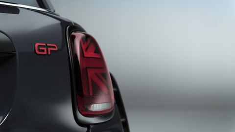 """There's no shortage of """"GP"""" badging on this Mini."""