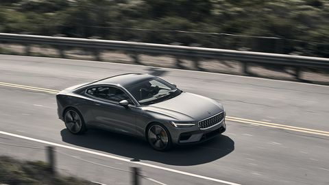 <span><span><span><span>When operating in electric mode, there are no gear changes, so it takes awhile for the Polestar 1 to build steam. But we'd predict a 0-60-mph time in the low seven-second range.</span></span></span></span>