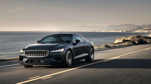"""<span><span><span><span>The Polestar 1's design is """"a synthesis of Swedish and American car culture,"""" says program manager Axel Stenberg. </span></span></span></span>"""