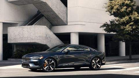 <span><span><span><span>The design of the Polestar 1 is informed both by Volvo's seminal P1800 coupe and Sweden's broad penchant for vintage Detroit iron.</span></span></span></span>