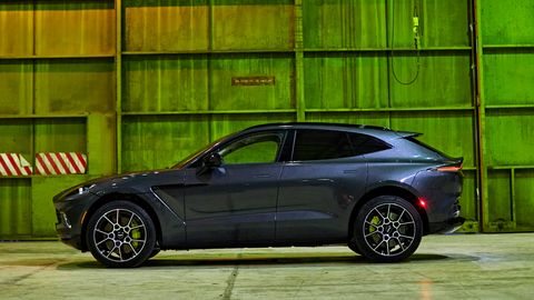 The Aston Martin DBX gets an AMG-built 4.0-liter twin-turbo V8.