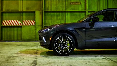The Aston Martin DBX is instantly recognizable from the nose.