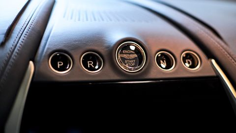 The Aston Martin DBX features <span><span><span><span><span><span><span><span><span><span><span><span><span><span><span>a 10.25-inch screen that controls the three-zone climate control and 800-watt, 14-speaker stereo system.</span></span></span></span></span></span></span></span></span></span></span></span></span></span></span>