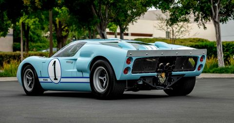 Instead of a vintage car, this Superformance GT40 MKII was used in the filming of <em>Ford v Ferrari. </em>