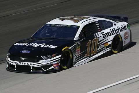 """<span id=""""CT_Main_1_cache_lblCaption"""">Aric Almirola, driver of the #10 Smithfield Ford, practices for the Monster Energy NASCAR Cup Series AAA Texas 500 at Texas Motor Speedway on November 01, 2019 in Fort Worth, Texas.</span>"""