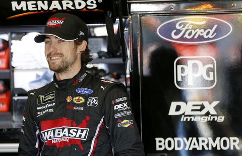 """<span id=""""CT_Main_1_cache_lblCaption"""">Ryan Blaney, driver of the #12 Wabash National Ford, looks on during practice for the Monster Energy NASCAR Cup Series AAA Texas 500 at Texas Motor Speedway on November 01, 2019 in Fort Worth, Texas.</span>"""