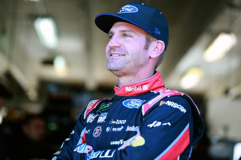 """<span id=""""CT_Main_1_cache_lblCaption"""">Clint Bowyer, driver of the #14 Mobil 1/Rush Truck Centers Ford, looks on during practice for the Monster Energy NASCAR Cup Series AAA Texas 500 at Texas Motor Speedway on November 01, 2019 in Fort Worth, Texas. </span>"""