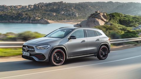 The Mercedes-Benz GLA250 comes in either two- or four-wheel drive.