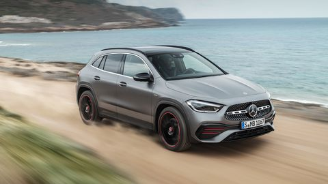 The Mercedes-Benz GLA250 gets an eight-speed dual-clutch transmission.