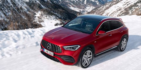 The2021 Mercedes-AMG GLA35brings 302 hp to all four wheels.