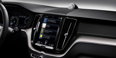 The 2020 Volvo XC60 Inscription features a big infotainment screen that takes some getting used to.
