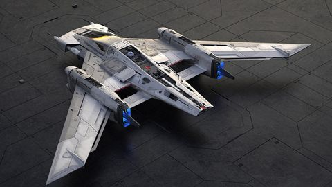 The fuselage features an astromech droid.