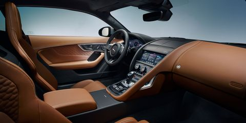 Inside the 2021 Jaguar F-Type coupe.