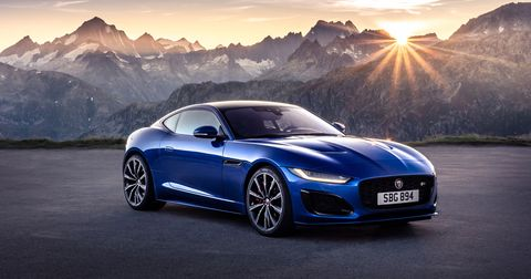 The 2021 Jaguar F-Type gets inline-four, V6 and supercharged V8 engine options, producing 296, 380 and 575 hp, respectively.