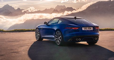 The 575-hp, 516 lb-ft supercharged V8 in the 2021 Jaguar F-Type R produces 25 extra horsepower, and 14 more lb-ft of torque, than the outgoing model.