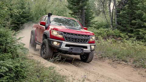 chevrolet colorado   in addition to receiving the same 28 liter diesel engine as its canyon twin, the chevrolet colorado  gained an even more hardcore version of the zr2 off road package general motors has partnered with off road aftermarket manufacturer american expedition vehicles to create the colorado zr2 bison in addition to the zr2's normal allotment of off road equipment, the bison features five skid plates, front and rear locking differentials and unique steel bumpers