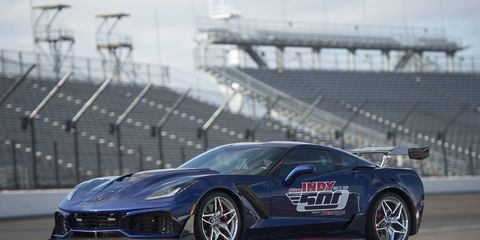 The Corvette ZR1 will lead the pack at Indianapolis.