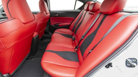 The Acura ILX A-Spec finally gets an optional red interior for 2019.