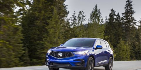 The 2019 Acura RDX starts at $38,295. The official on-sale date is June 1. Shown here is the RDX A-Spec.
