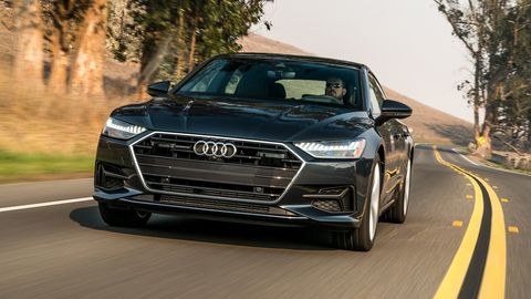 The 2019 Audi A7 comes exclusively with a 3.0-liter turbocharged V6 making 335 hp.