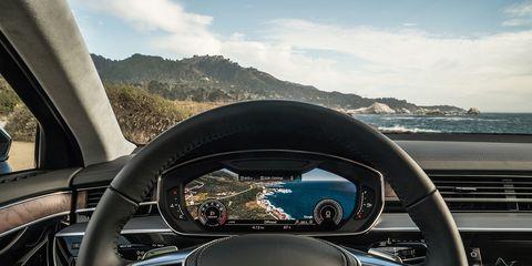 Inside the 2019 Audi A8 luxury sedan