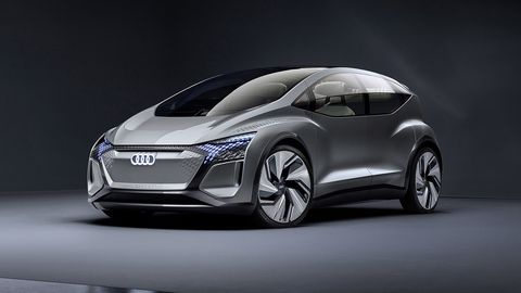 Audi's AI:ME concept gives a glimpse at the approaching age of electric, autonomous vehicles and their interiors.