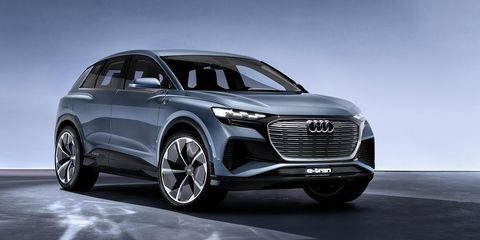 The Q4 e-tron concept is a close preview of Audi's upcoming electric SUV.
