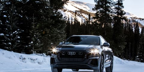 The 2019 Q8 is Audi's new flagship crossover SUV, a high-riding counterpart to the A8 luxury sedan. It combines a refined ride with a comfortable interior and cutting-edge technology -- and a second row of seats that offers more legroom for passengers than the larger, three-row Q7.