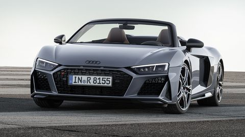 The Audi R8 Coupe and Spyder get updated looks and a bump in power for 2019.