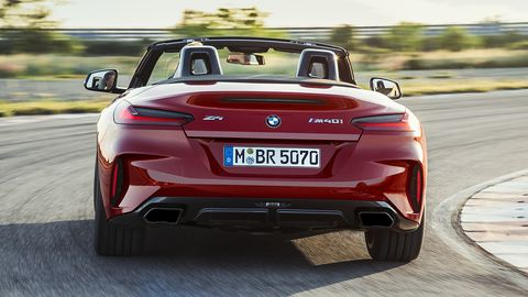 BMW took the wraps off the all-new Z4 M40i roadster just ahead of Pebble Beach concours, a model set to go on sale in the spring of next year.
