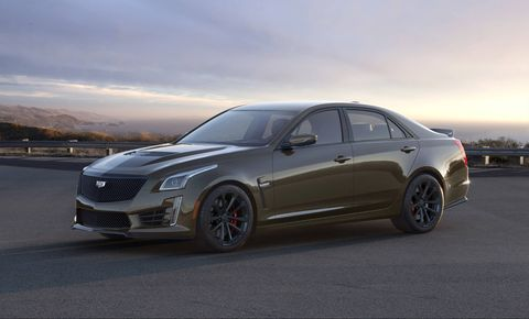 Cadillac celebrates its V-Series of performance cars with the special Pedestal Edition. This limited edition wears Cadillac's latest color -- bronze sand metallic.