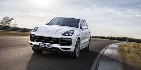 The new Porsche Cayenne Turbo makes its debut at the Frankfurt motor show.