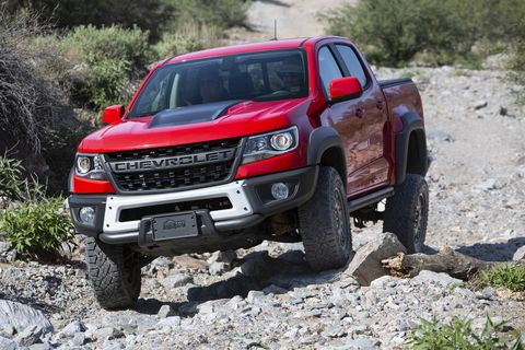 The 2019 Chevrolet Colorado ZR2 Bison isn't necessarily any more capable off-road than the impressive ZR2 truck on which it is based, but a set of armor from respected trail gear supplier AEV lets you explore its potential without fear of bending metal. Thoughtful features like the available snorkel (it's not just for fording streams) help optimize the Bison for heavy-duty use as well.