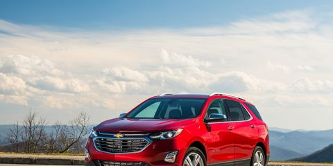 The 2019 Chevrolet Equinox is offered with either a 1.5-liter turbo four (170 hp), a 2.0-liter turbo four (252 hp) or a 1.6-liter diesel making 137 hp and 240 lb-ft of torque.