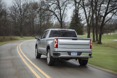 The 2019 Chevrolet Silverado LTZ comes standard with the 5.3-liter V8 and eight-speed automatic with a base price of $44,495.