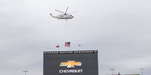 The 2019 Chevy Silverado made a surprise appearance at Texas Motor Speedway before its Detroit auto show premiere in January.