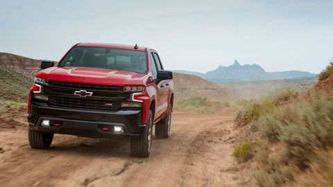 The 2019 Chevrolet Silverado Trail Boss is the off-off-road version of the Silverado pickup.