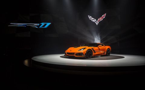 Chevrolet dropped the top on the ZR1 ahead of the L.A. auto show. With a 755-hp LT5 6.2-liter V8, it hits a top speed of 212 mph.