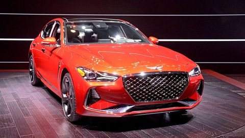 The Genesis G70 debuted in New York, offering a choice of 2.0-liter and 3.3-liter engines.