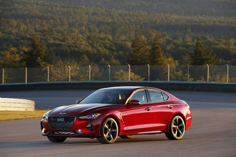 The 2019 Genesis G70 gets either a 2.0-liter turbocharged I4 or a 3.3-liter turbocharged V6.