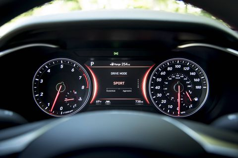 The 2019 Genesis G70 driver can select from five different drive modes.
