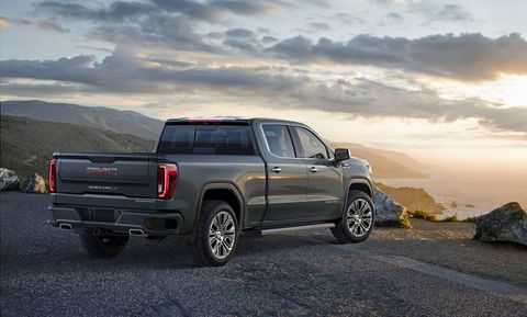 The 2019 GMC Sierra gets a new look and the choice of either a 5.3-liter V8, a 6.2-liter V8 or a 3.0-liter turbodiesel I6.